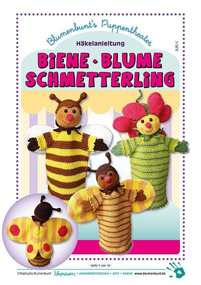 Handpuppen BIENE · BLUME · SCHMETTERLING