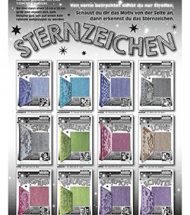 Titelseite 12 STERNZEICHEN Schattenstricken von Raphaela Blumenbunt