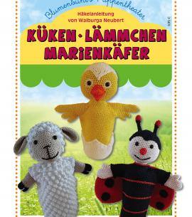 Blumenbunts Handpuppen KÜKEN · LÄMMCHEN · MARIENKÄFER