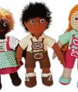 Blumenbunt: Puppen Varianten mit Dirndl und Lederhose